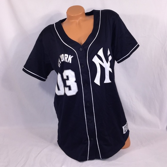 VS PINK New York Yankees Button Down Jersey d18cc5b091a