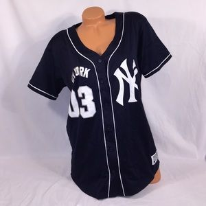 big sale 8c835 72ea0 VS PINK New York Yankees Button Down Jersey NWT
