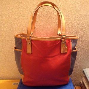Coach colorblock bag