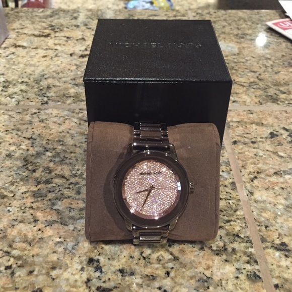 451fc583e4f0 Michael Kors Kinley Pave Sable Watch-Rose Gold. M 56737429d3a2a7a5a4003b04.  Other Accessories ...