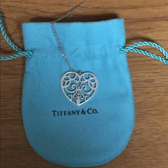 60 off tiffany co jewelry tiffany enchant heart sterling tiffany enchant heart sterling silver pendant audiocablefo Light gallery