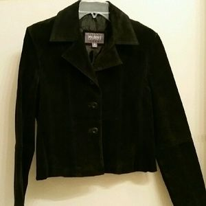 Wilsons Leather Jackets & Blazers - Wilson's Leather Short Suede Jacket