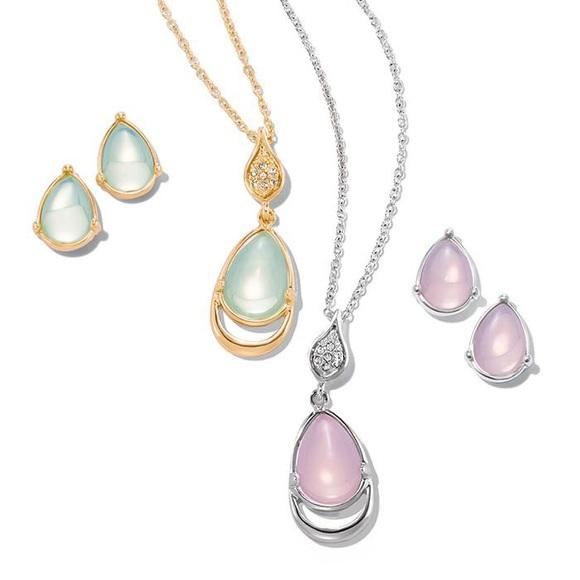 Avon Jewelry Feminine Grace Necklace And Earring Set Poshmark