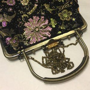 Vice Versa Too Handbags - Beaded black handbag/Crossbody with vintage look