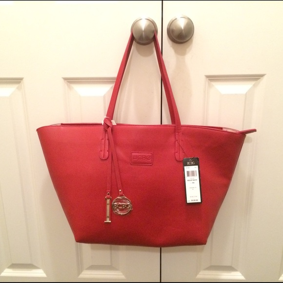 67% off BCBG Handbags - 🎉🎉🎉New with tags BCBG red tote purse ...