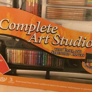 Daler Rowney Complete Art Studio W Easel Canvas
