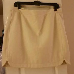 Cream Jcrew skirt back zip