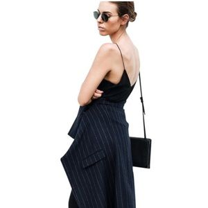 T By Alexander Wang silk black maxi dress