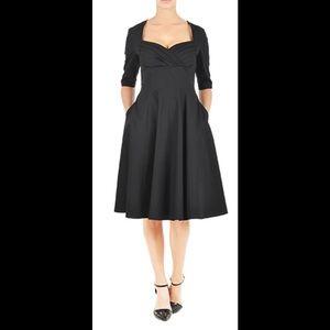 Eshakti Dresses & Skirts - New Eshakti Black Fit & Flare Dress M 8