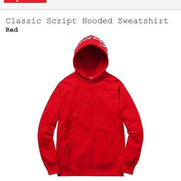 Supreme - SUPREME CLASSIC Script Hoodie from Daniel's closet on ...