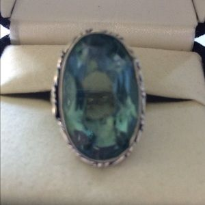 Jewelry - Wonderful Aqua Quartz 🎉STERLING SILVER RING 💗✨