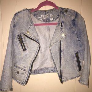 Gap Jean Moto Jacket