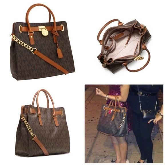 aaee92cdbd22 Michael Kors Hamilton large brown logo tote bag. M 567441a36e3ec2d7c700e9f4