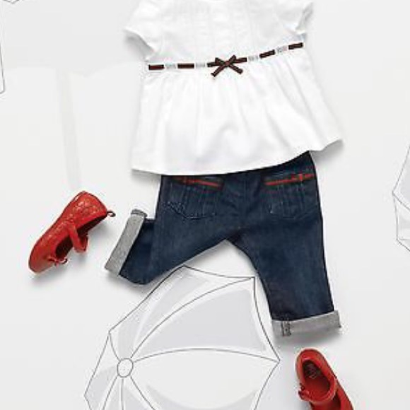 7d099b1a3f88 New authentic  225 Gucci baby girls jeans Sz 6-9