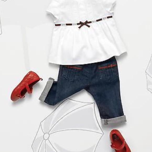 cfebb61c6 Gucci Bottoms | New Authentic 225 Baby Girls Jeans Sz 69 | Poshmark