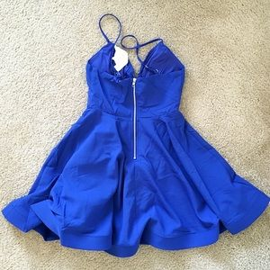 Tea n Cup Dresses - Glamorous Royal Blue Dress