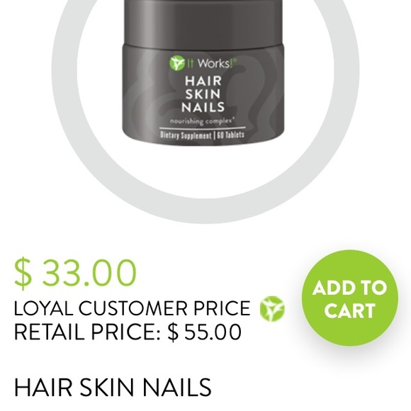 Itworks! Other | Hair Skin And Nails Vitamins By Itworks | Poshmark