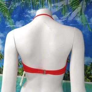 Lucky Brand Swim - **NEW LUCKY BRAND orange bandeau halter bra top M