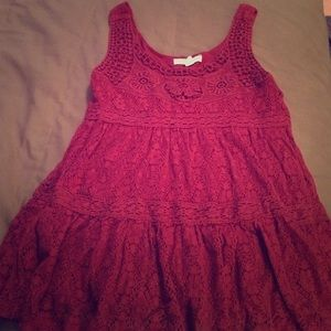 Burgundy lace tank blouse from Urban Outfitters