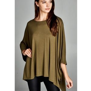 "Bare Anthology Tops - ""Antigone"" Asymmetrical Loose Kimono Top"