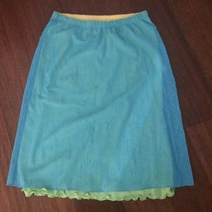 Guess teal/lime skirt