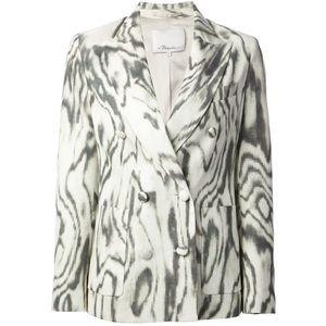 [3.1 Phillip Lim]gray satin print blazer