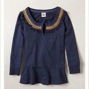Anthropologie Tops - Anthropologie NWOT Toorie embrodiered top