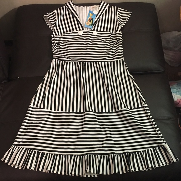 ce332e25ec3 NWT Bettie Page Tatyana sailor striped dress XXL