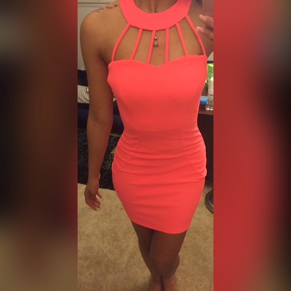 49% off Charlotte Russe Dresses &amp- Skirts - Hot pink fitted dress ...