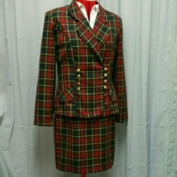 14fa8fdc2255 Vtg. Plaid Pencil Skirt Jacket Suit. M_5674dd28a72265c4e8003bca