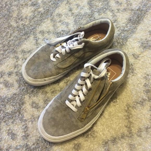 Vans Shoes - Vans Marble Suede Old Skool Zip Sneakers