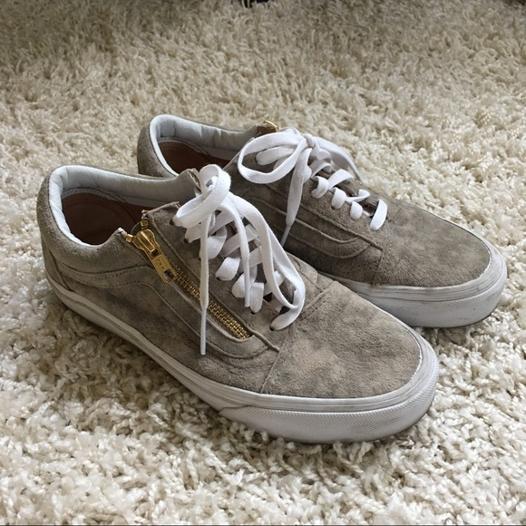 Vans Shoes - Vans Marble Suede Old Skool Zip Sneakers