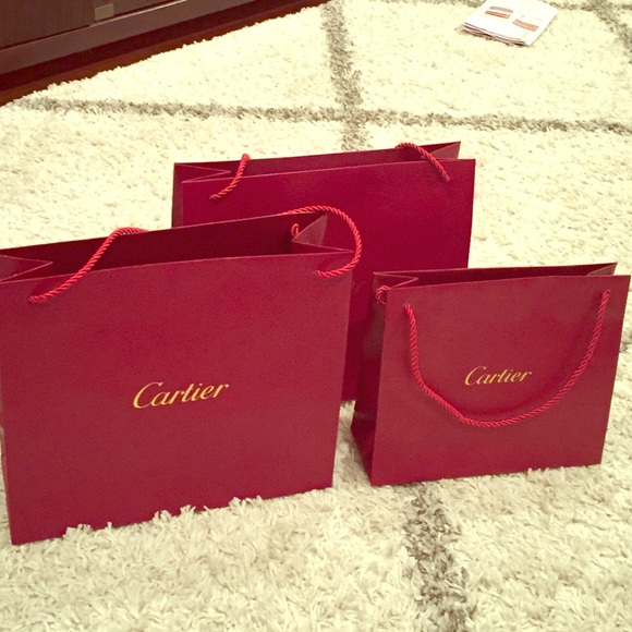 Cartier - Small & medium Cartier shopping bags bundle deal from ...