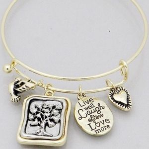 Jewelry - Tree of Life live laugh bracelet gold