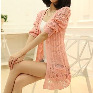 Tops - Fashion Knitted Cardigan Long Sleeve Sweater