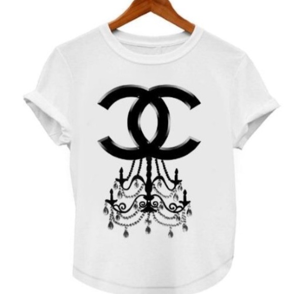 63 off CHANEL Tops Chandelier Logo Tshirt from Chicshops – Chandelier Logo
