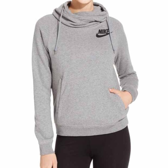 31% off Nike Tops - Womens Gray Nike Funnel Hoodie from Em's ...