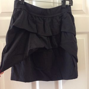 Black boutique mini skirt