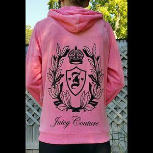 Juicy Couture Pink Velour Bling Hoodie HP!🎉