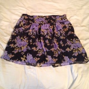 Charlotte Russe Floral Skirt with Pockets!!