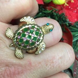 Betsey Johnson Green @ Purple Crystal Turtle Ring
