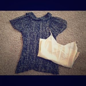 Anthro Corey Lynn Calter Silk Sheer Blouse + Cami