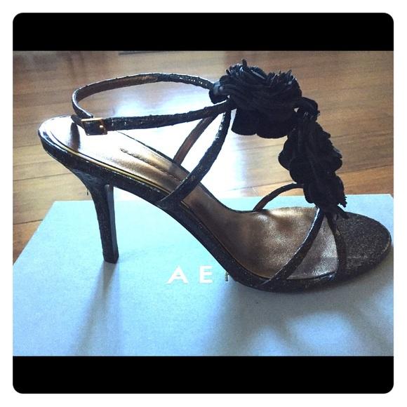 6fe2c6789ded Aerin Shoes - Aerin Collonade Glitter Snake heeled sandals