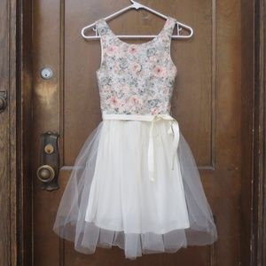 Floral Lace Tulle Dress