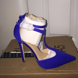 JustFab Shoes - Cobalt ankle strapped high heels