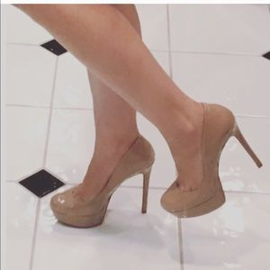 Jessica Simpson Shoes - Nude Patent Leather Pumps