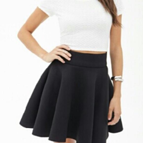 brandy melville skirts black skater skirt poshmark