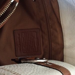 Coach Bags - Large cream &brown Coach bag