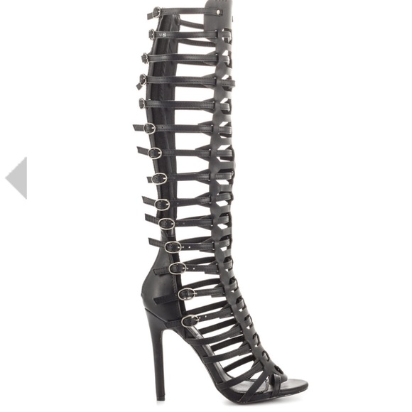 f1f91a443d1 Knee high gladiator heels. NWT. Charlotte Russe
