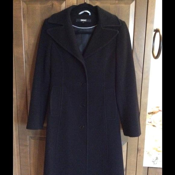 79% off DKNY Jackets & Blazers - DKNY Wool/Cashmere Full Length ...